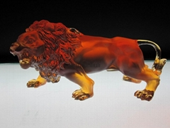crystal anmal--crystal lion