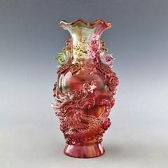 琉璃龙凤花瓶