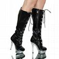 Sexy Stripper Knee Boots Heels Halloween