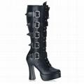 6.5 inch Gothic Knee Boots Heels