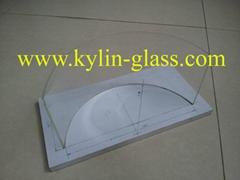 arc glass panel