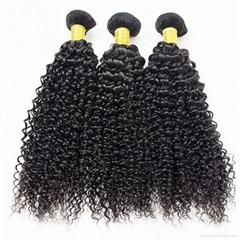 Brazilian Kinky Curly Hair 100% Human Hair Weave Bundles 1/3/4 Pieces