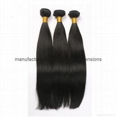 Unprocessed virgin hair Straight 8A Peruvian virgin hair bundle hair weave