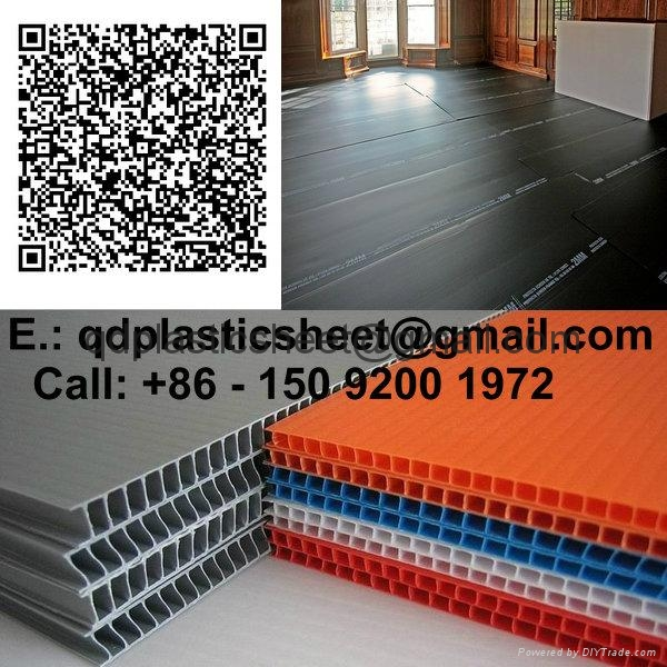 Corrugated PP Sheet / Corrugated Plastic Sheet For Floor