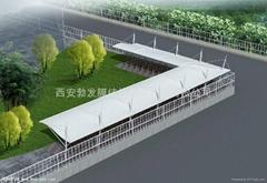 漢中充電樁膜結構雨棚廠家安裝施工