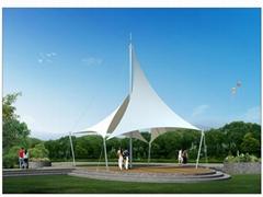 供應公園廣場膜結構涼亭膜結構傘批發價格