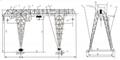 电动葫芦桁架门式起重机