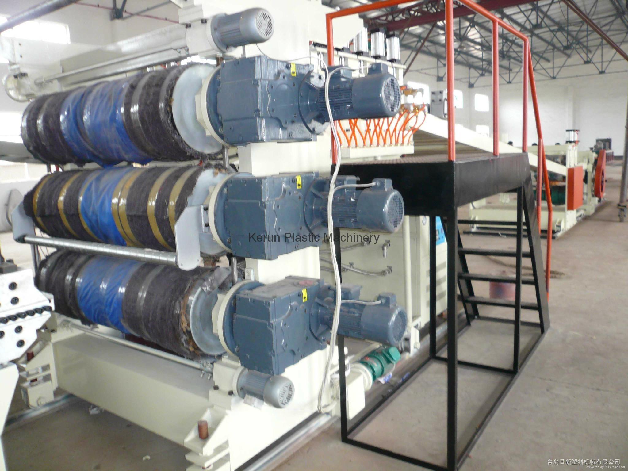 塑料建筑模板生产线 5