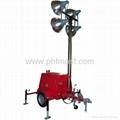 4x1000W Metal Halide Lamps Mobile Lighting Tower