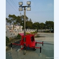 4x1000W Halogen Lamps Mobile Floodlighting Tower 1