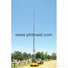 30m Pneumatic Telescopic Mast-30kg head
