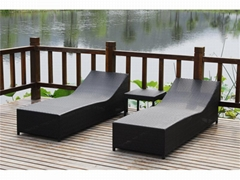outdoor sofa bed metal beach bed rattan lounge chair
