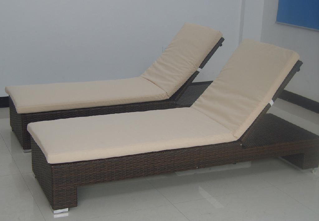 Outdoor Sofa Bed Metal Beach Rattan Lounge Chair 5