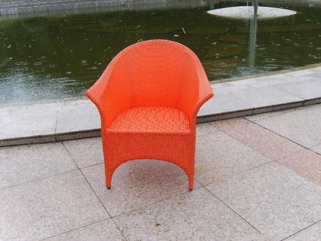 PE Rattan Plastic Chair Outdoor Leisure Beach Chair D053
