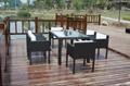 garden glass dining table rattan coffee