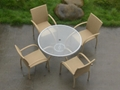 garden glass dining table rattan coffee table 2