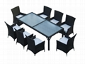 garden glass dining table rattan coffee table 3