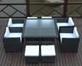 new rattan garden furniture outdoor table and chair rattan restaurant furniture  2