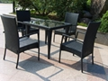 new rattan garden furniture outdoor table and chair rattan restaurant furniture  3