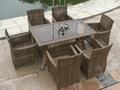 new rattan garden furniture outdoor table and chair rattan restaurant furniture  4
