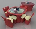 new design rattan dining room furniture