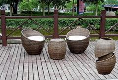 stackable rattan bar furniture popular aluminium restaurant furniture