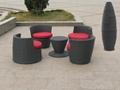 stackable rattan bar furniture popular aluminium restaurant furniture 3