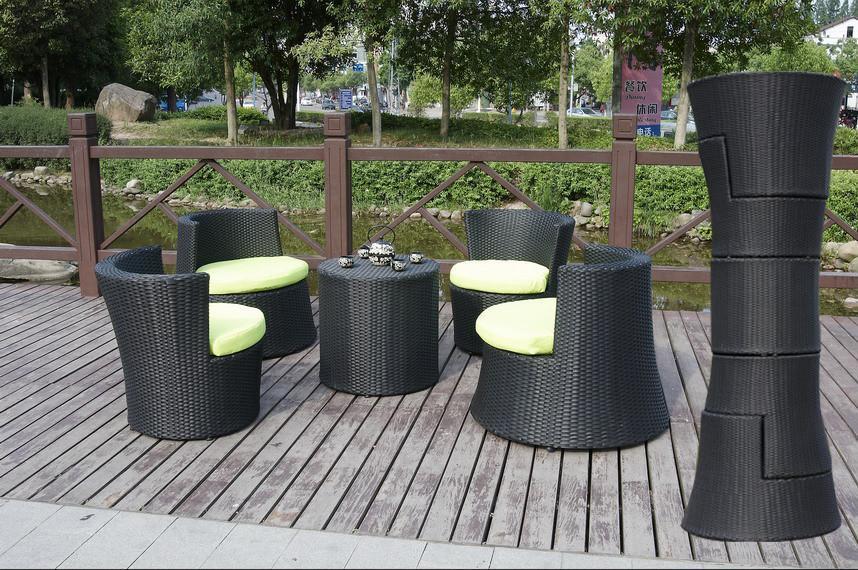 Stackable rattan bar furniture popular aluminium