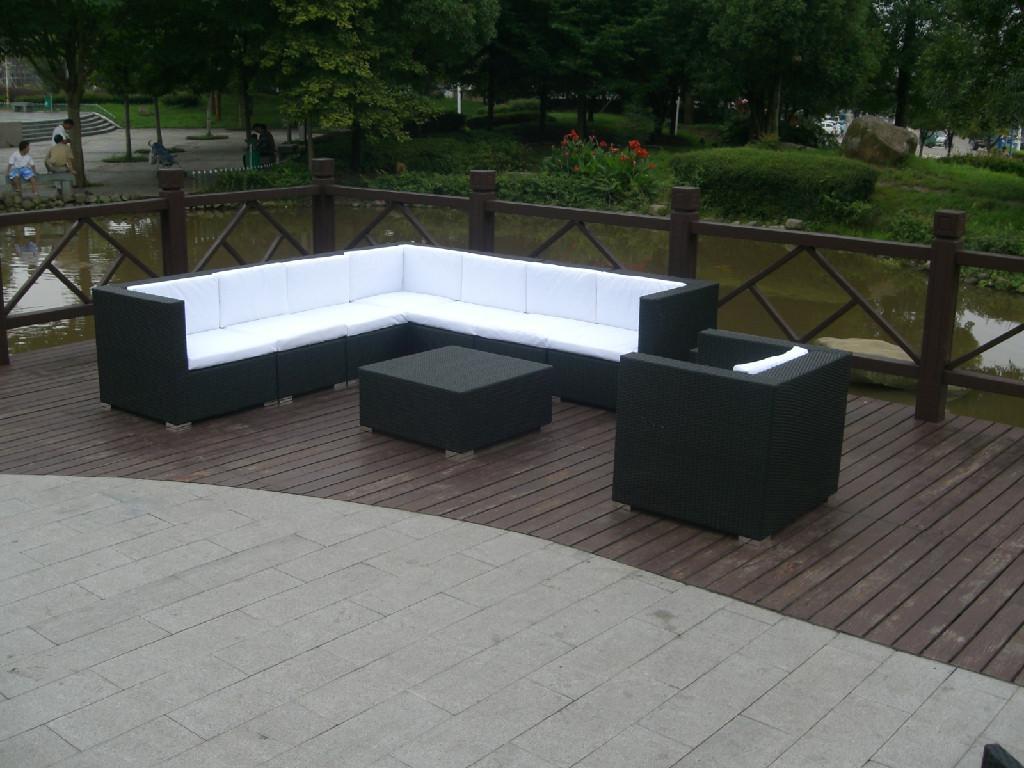 New Design Rattan Patio Furniture,free Assemble Rattan Sofa Set With Cushion  ...