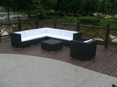 new design rattan patio furniture,free assemble rattan sofa set with cushion