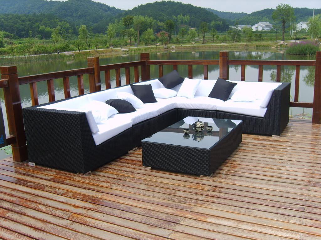 best selling garden outdoor furniture rattan furniture sofa set 2 - Garden Furniture Sofa Sets