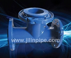 ductile iron pipe fittings-looseflange tees