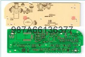 供应深圳黑色油墨FR4刚性电路板批量PCB快板打样 2