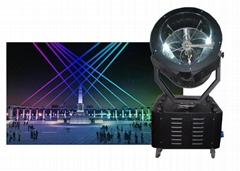 110° 3kw Outdoor Searchlight Wall Lights Powerful Discolor Single Head 5600K