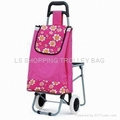shopping trolley with three wheel and seat 4