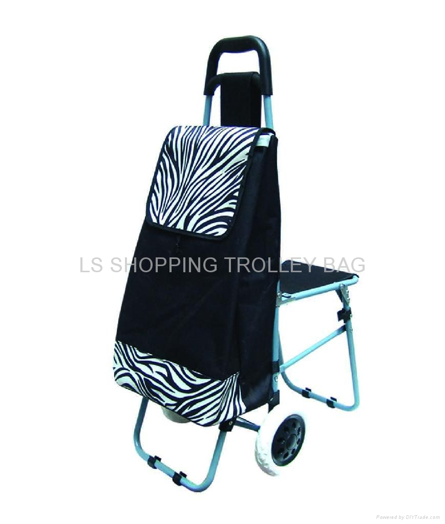 shopping trolley with three wheel and seat 5