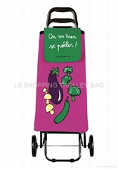 shopping trolley bag mirror leather material