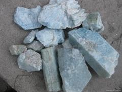 新疆阿勒泰優質海藍寶石滾珠子原料