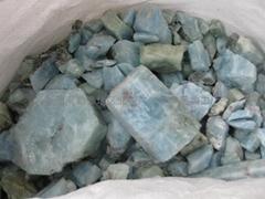 新疆優質海藍寶石滾珠子小料