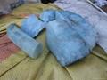 新疆優質海藍寶石滾珠子小料 2