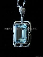 (   )新疆方形海藍吊墜(特惠價)