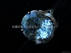 (天然)旦形海蓝宝石戒指(特惠价)