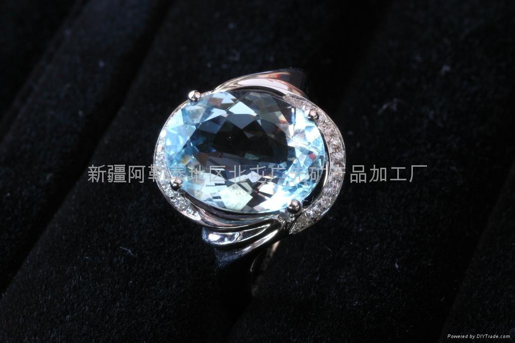 (天然)旦形海蓝宝石戒指(特惠价) 2