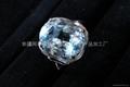 (天然)新疆海藍旦形戒指(特惠