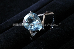 (   )新疆海蓝水滴戒指(特惠价)