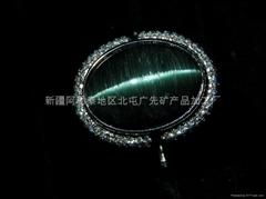 (純天然)新疆藍貓眼戒指(特惠價)