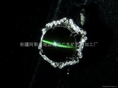 (纯天然)新疆绿猫眼戒指(特惠价)