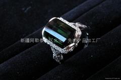 (天然)新疆精品綠碧璽戒指(僅一枚)