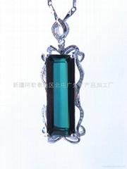 (   )長方綠色碧璽吊墜