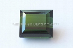 新疆綠色方形碧璽裸石(天然)